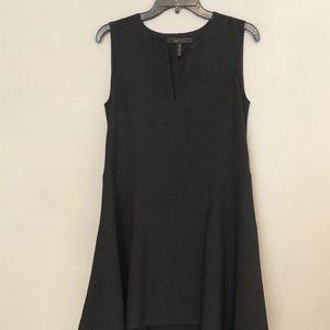 Bcbg MaxAzria Black Textured Dress Assymetric XXS